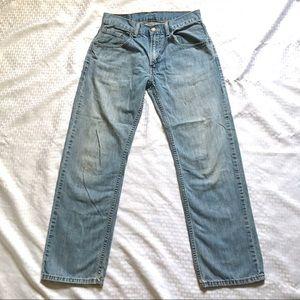 "Levi's 9"" Rise Faded Straight Leg Jeans Sz28x28"